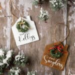 wooden Christmas house ornaments with personalized names