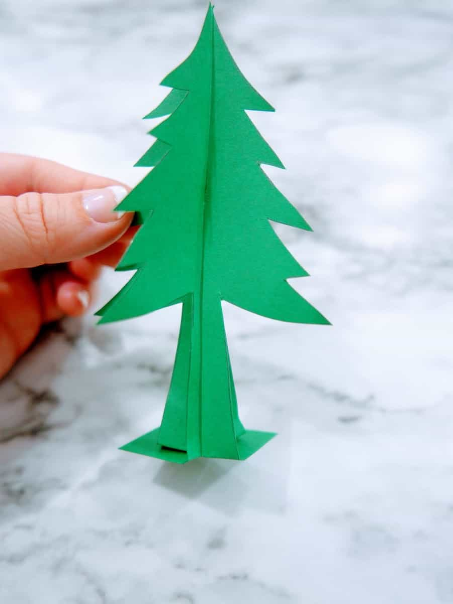 Green Paper Christmas Tree for Snow Globe