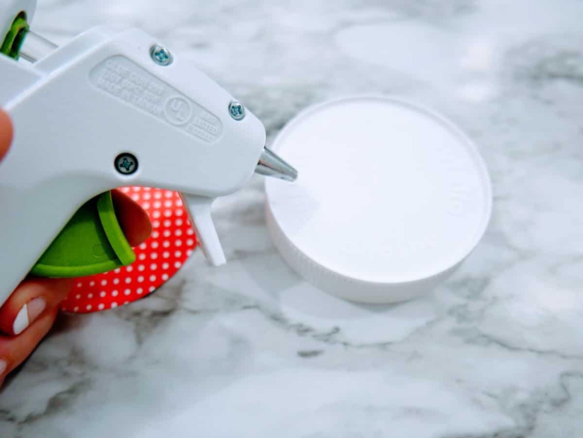 Hot Glueing Snow Globe Craft