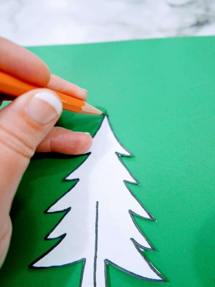Tracing Christmas Tree for Craft