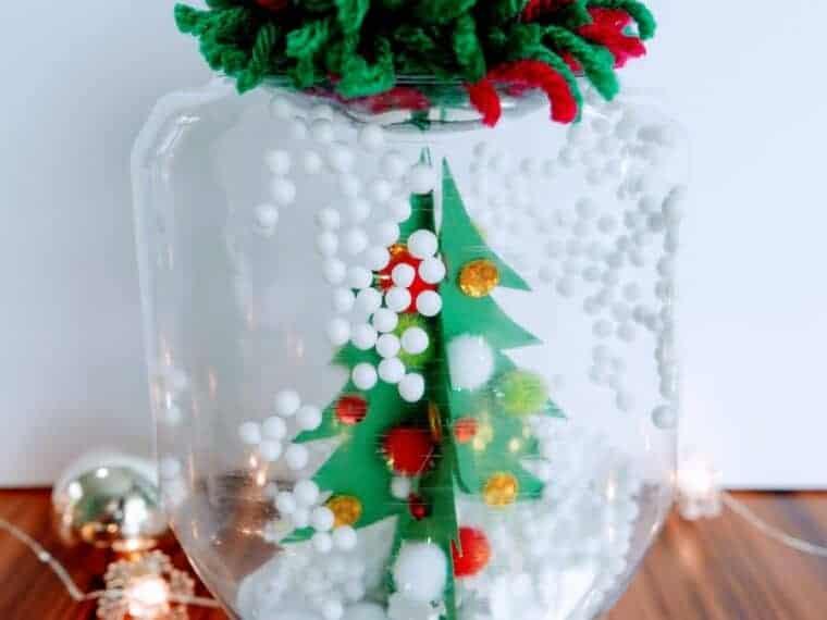 Waterless Snow Globe with jar