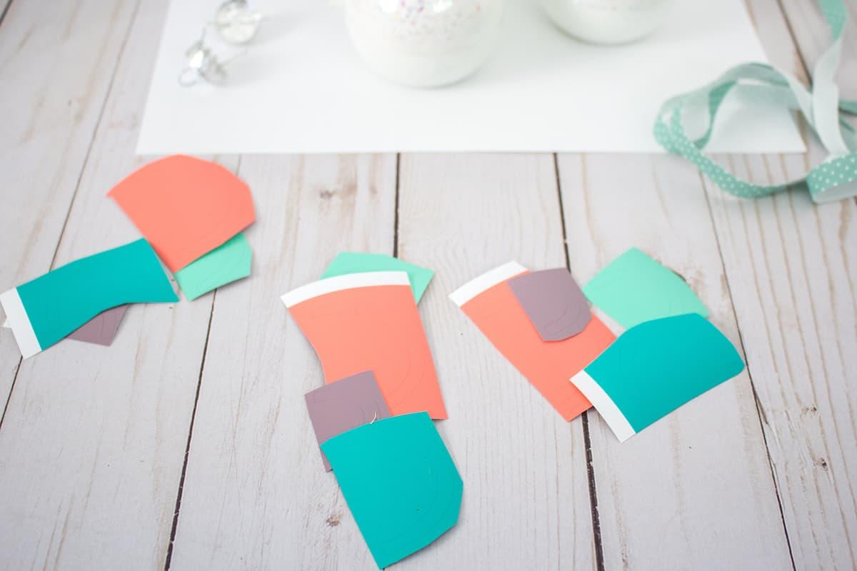Adhesive Vinyl for Rainbow Ornament Craft