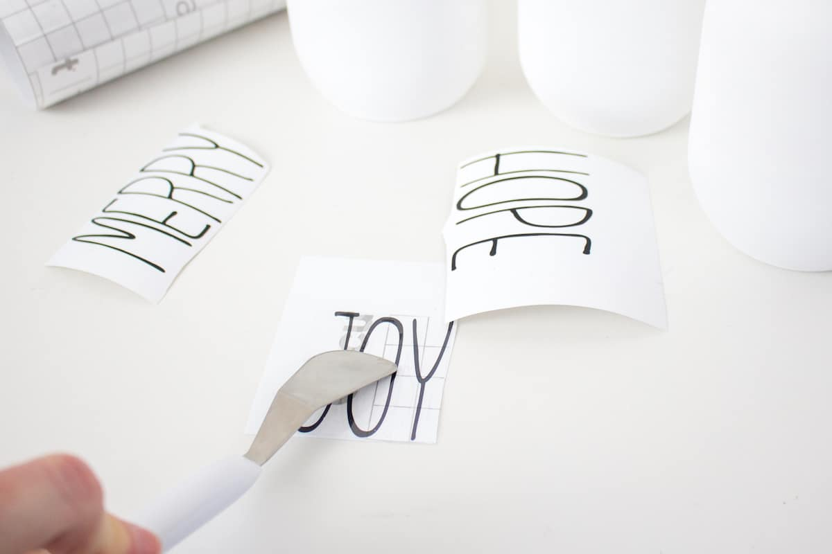 Applying Transfer Paper to Adhesive Vinyl Letters