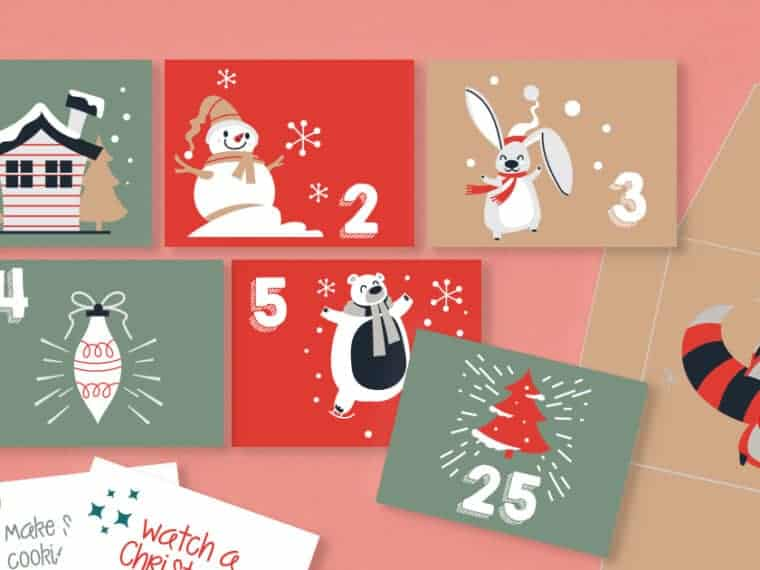 holiday mini envelopes to print out