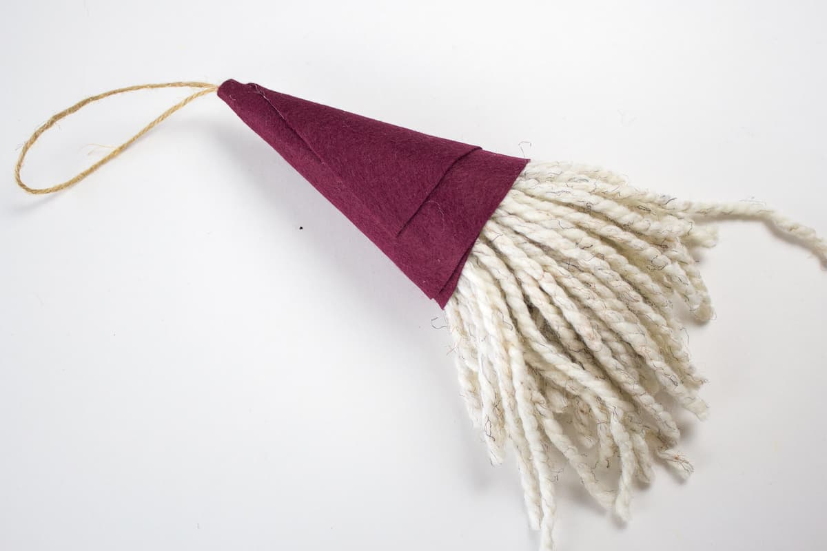 Christmas Ornament DIY Felt Yarn Gnome