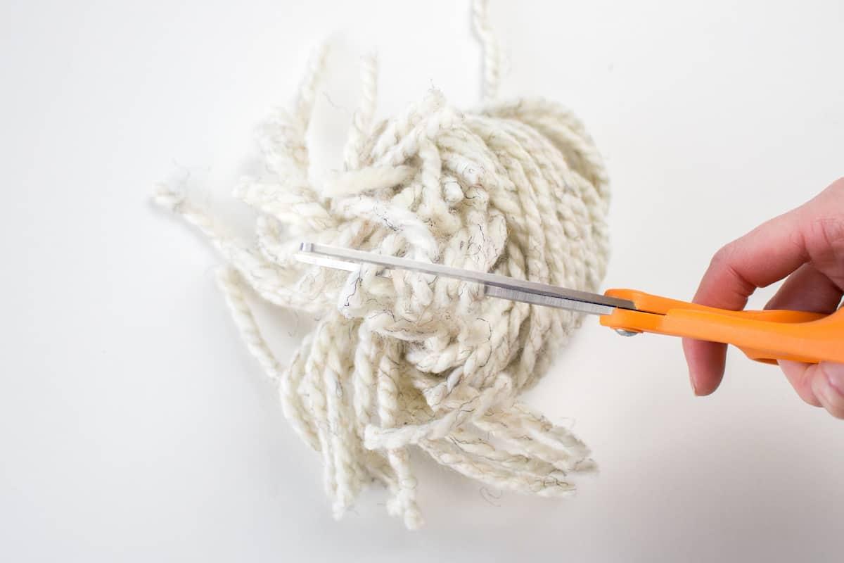 Cutting Yarn for DIY Craft