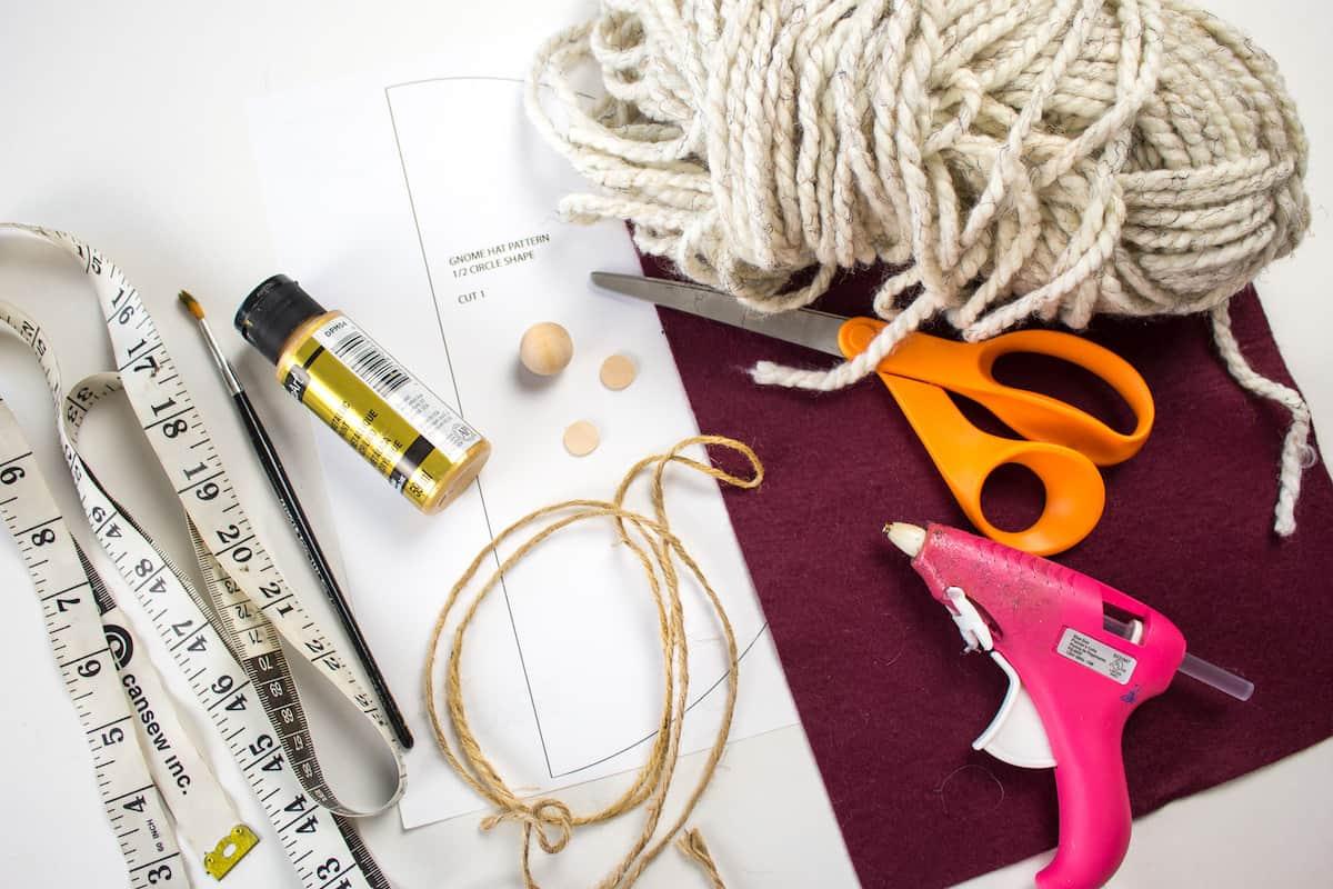 DIY Gnome Ornament Craft Supplies