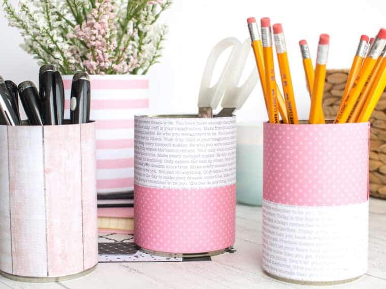 DIY Tin Can Organizers Ideas