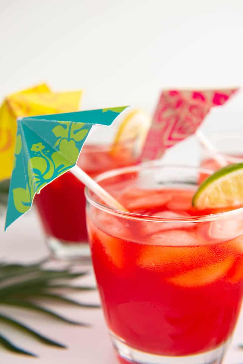 DIY little Umbrellas for Drinks tutorial