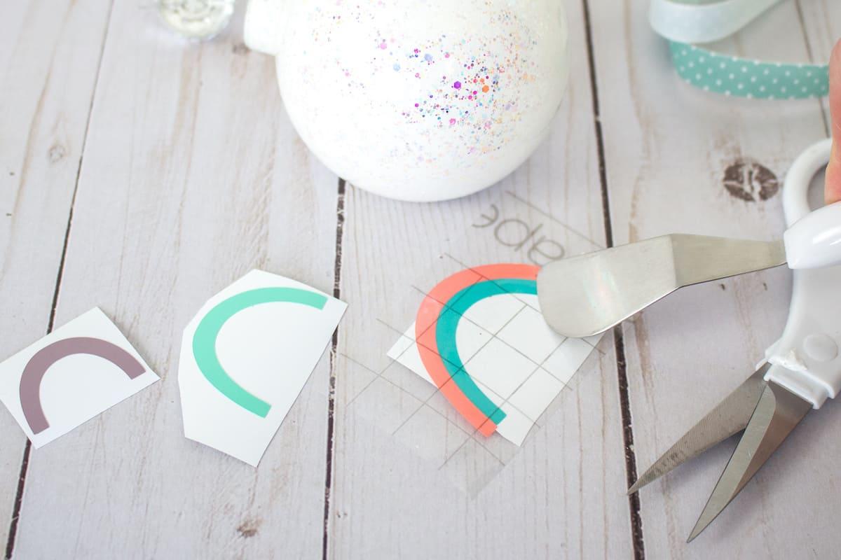 DIYing Adhesive Vinyl Rainbow