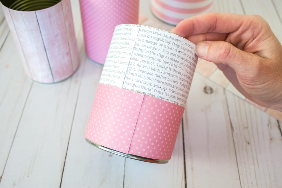 Decorative Paper on Tin Can