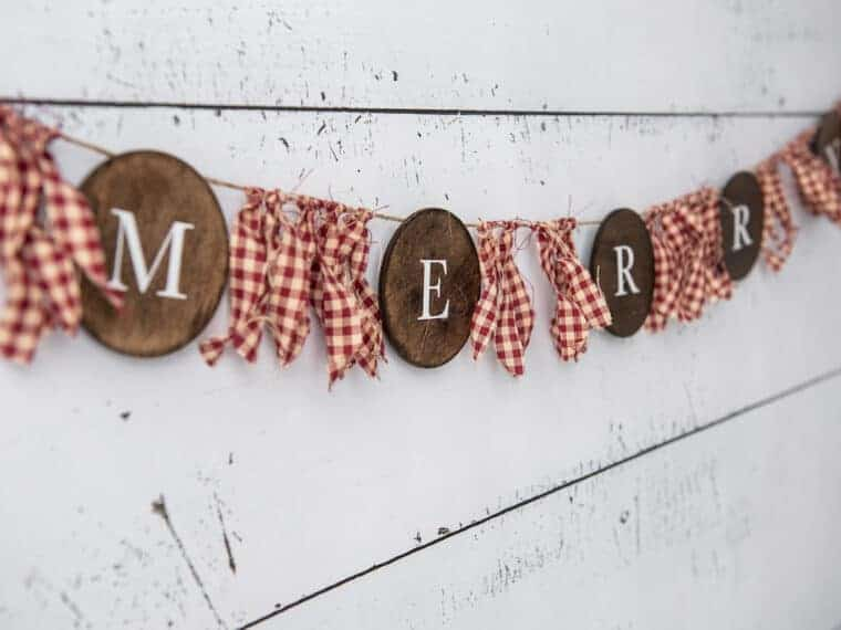 Merry Farmhouse Christmas Banner