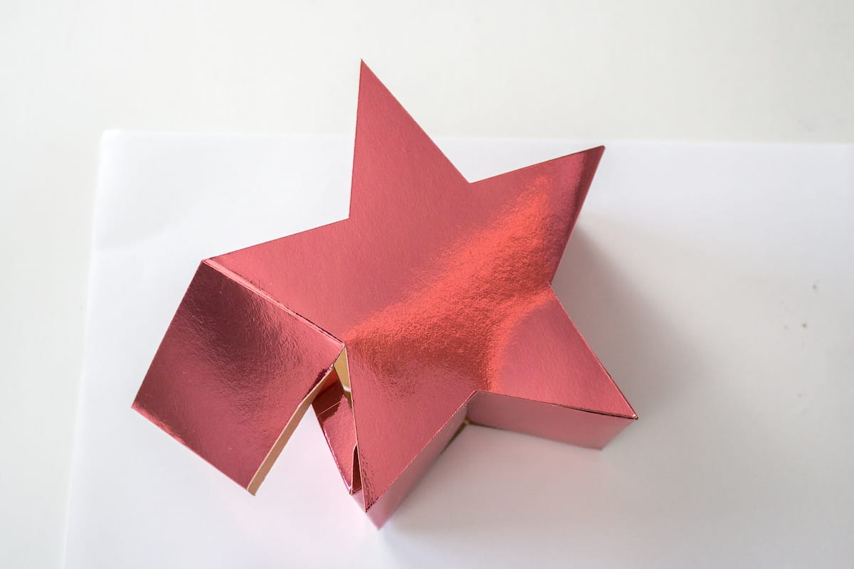 Putting DIY Holiday Star Gift Box Together