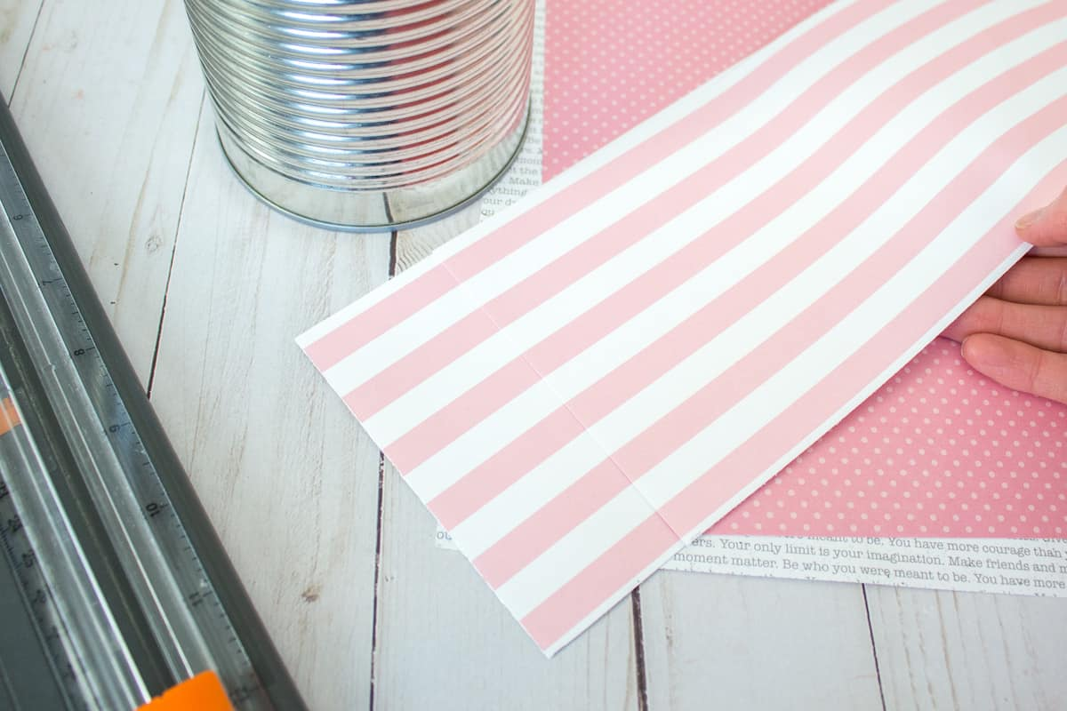 Striped Scrapbook Paper for Crafting