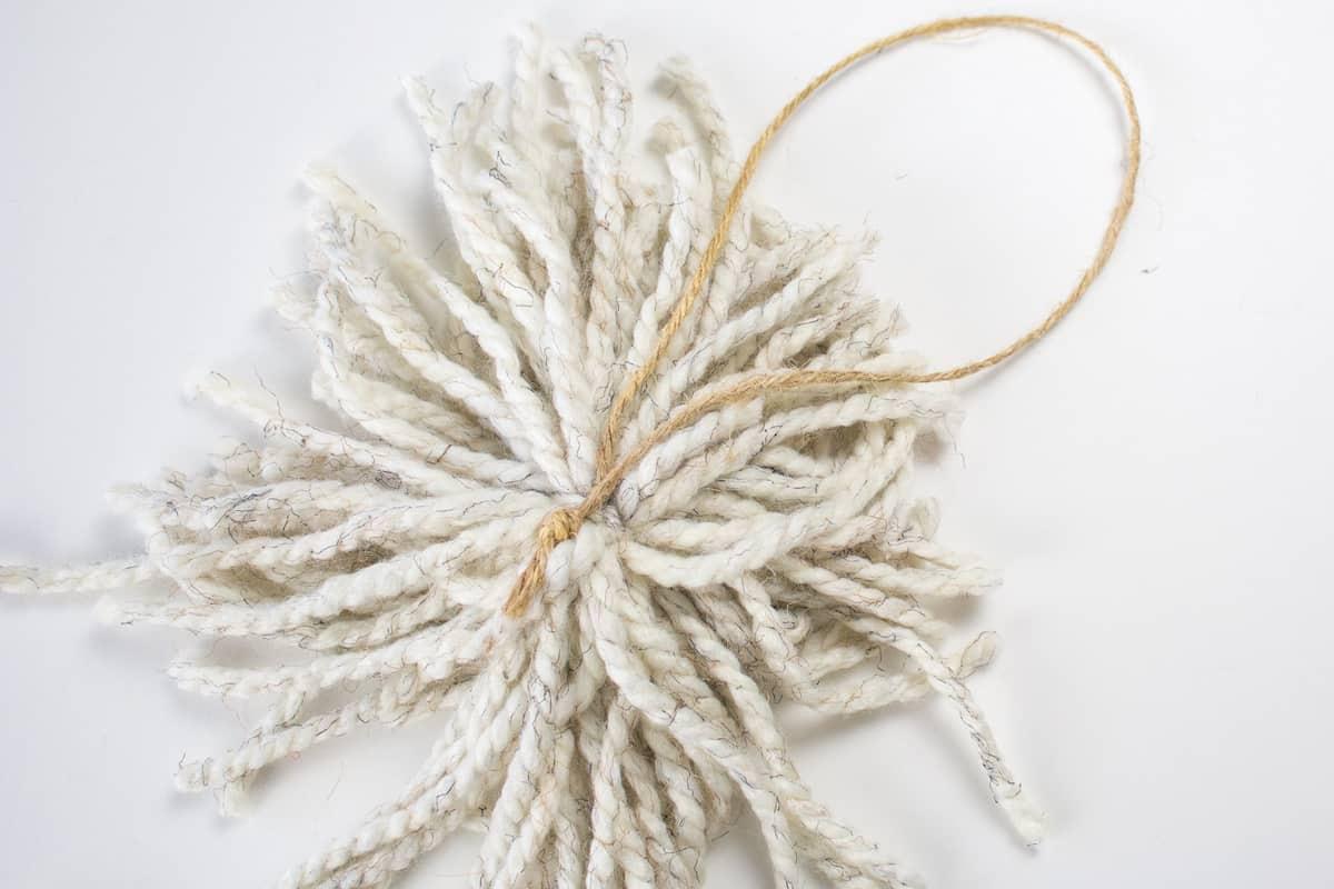 Twine Loop Tied to Yarn