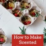 diy scented firestarter candles in egg cartons