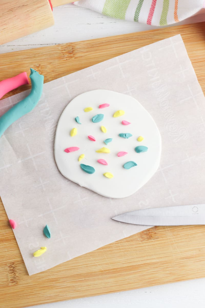 Making DIY Terrazzo Style Coaster From Clay
