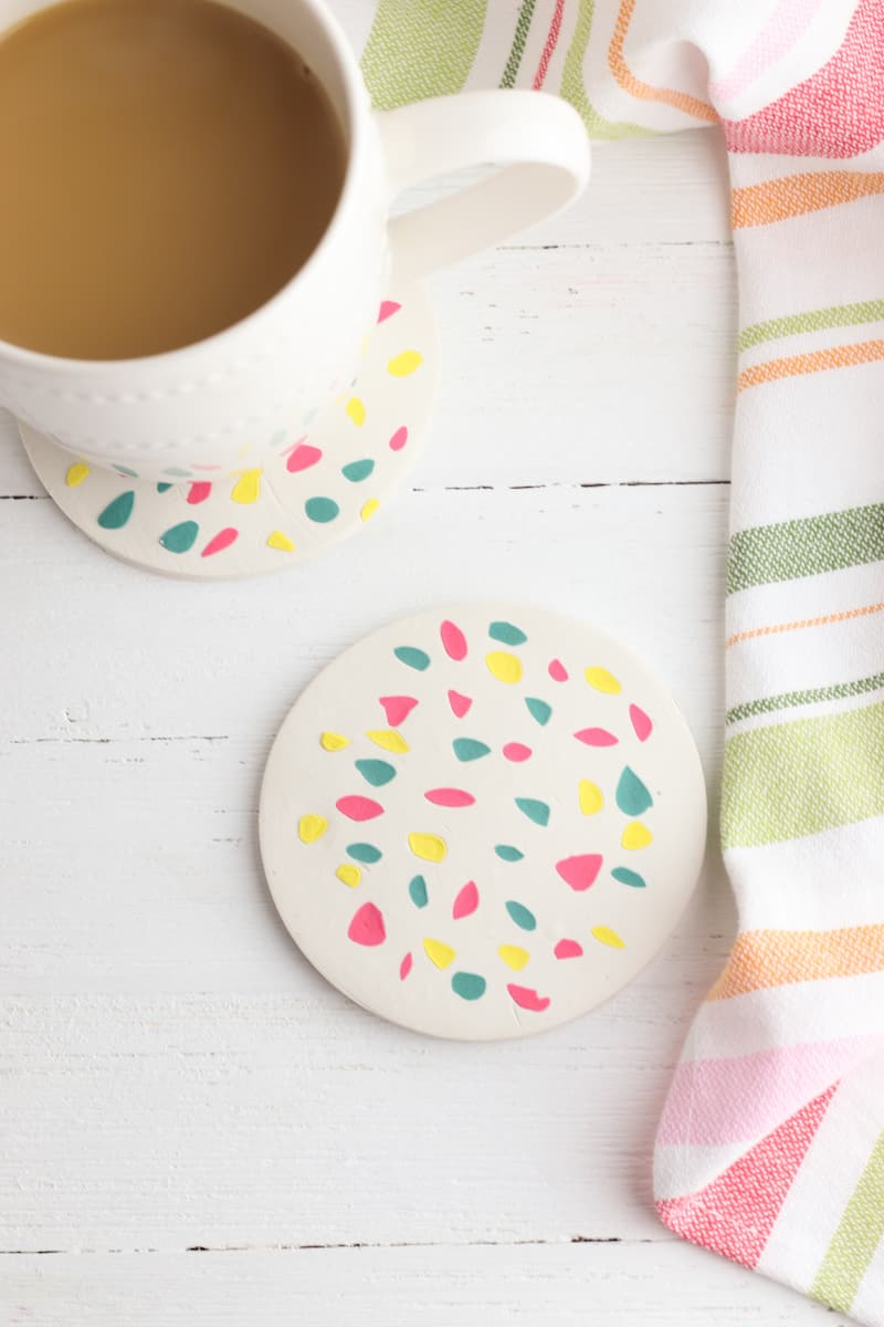 how to make Terrazzo Coasters