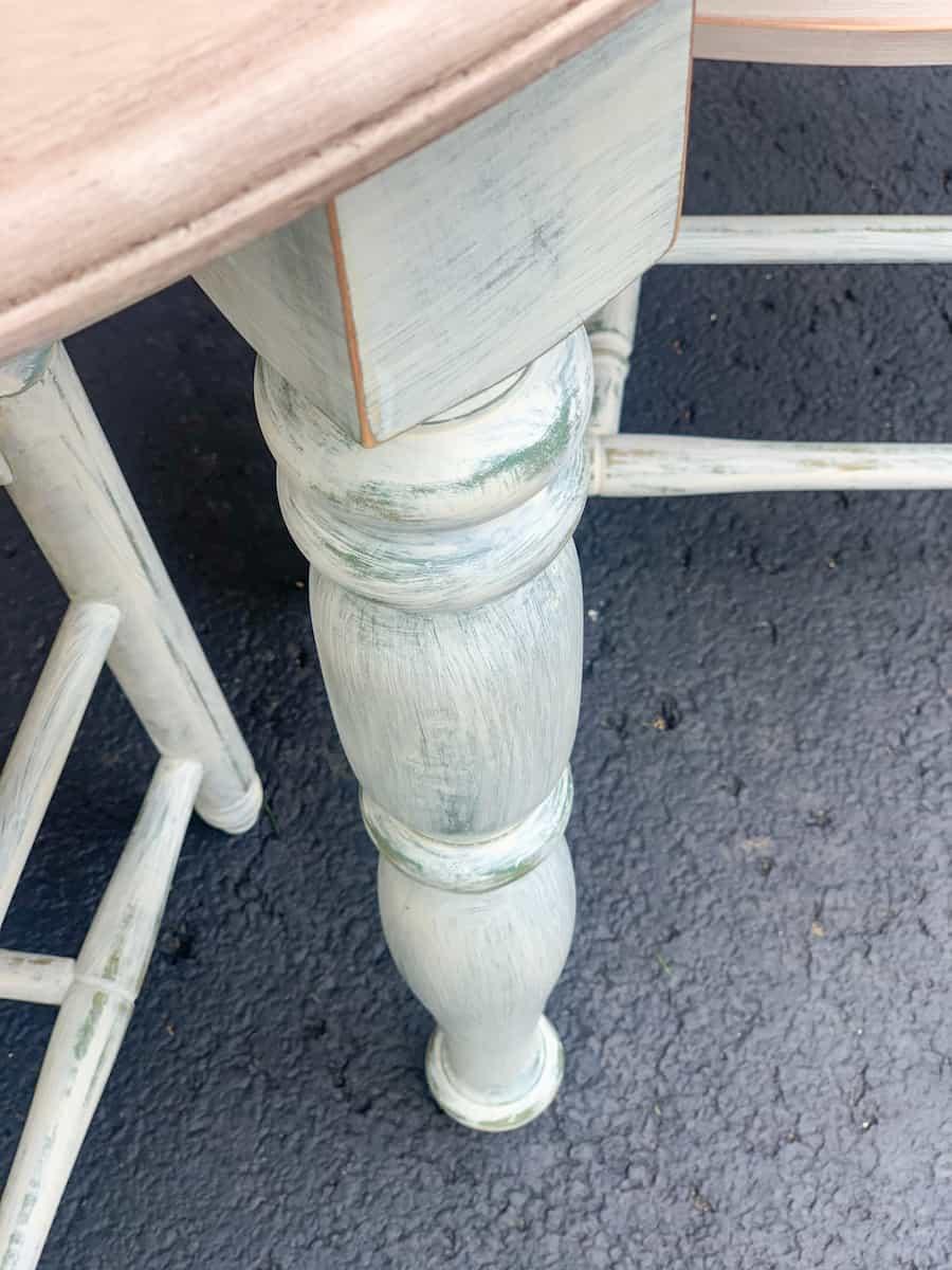 DIY painted table leg