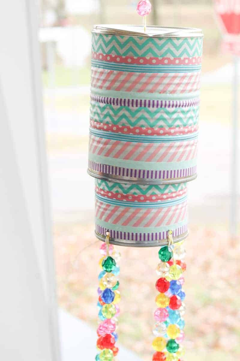 DIY tin can wind chimes
