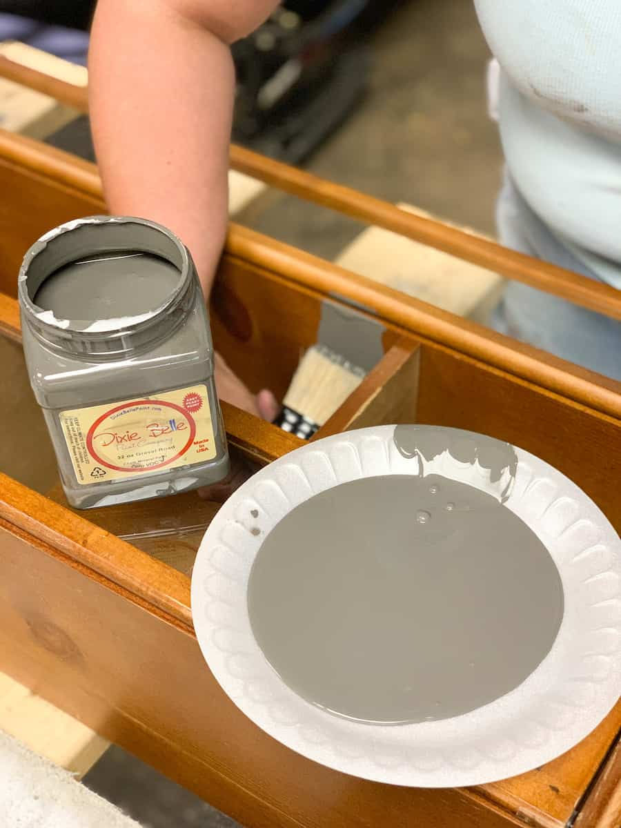 Distress furniture with vaseline and Dixie Belle Paint Company paint