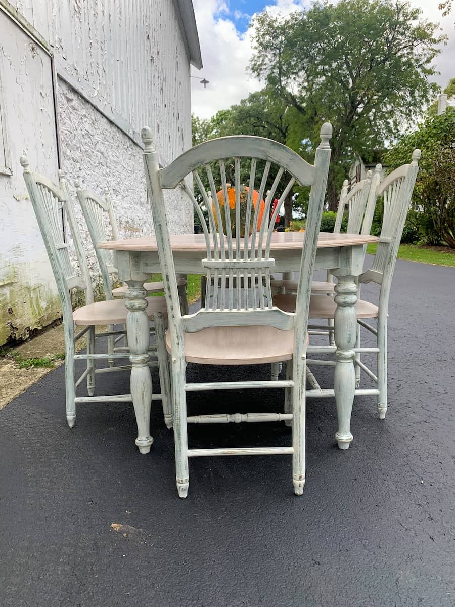 repainted table and chairs