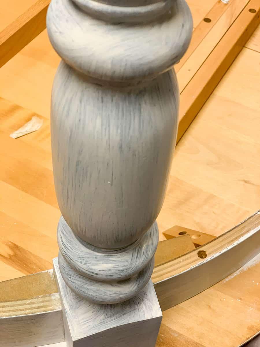 Painted table leg