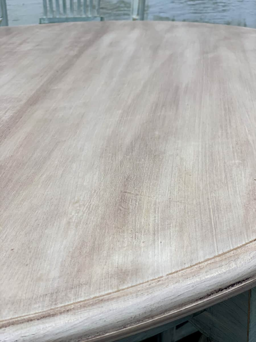Painted table top