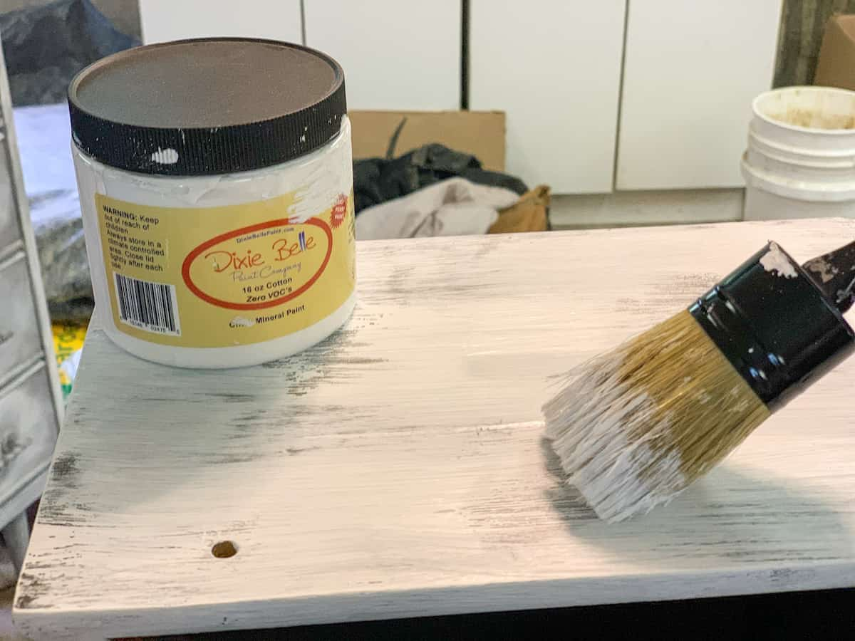 Painting furniture distressed white