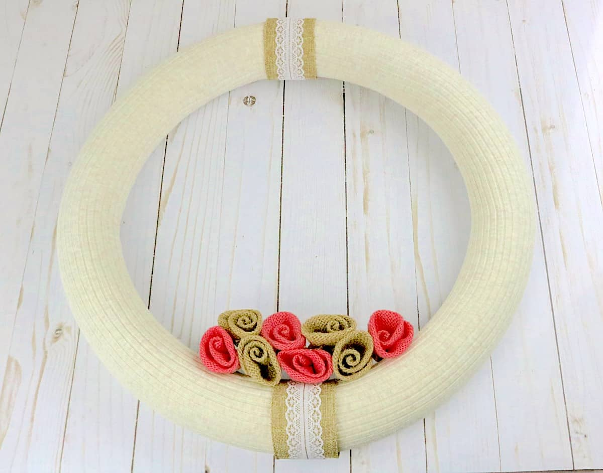 DIY Pool Noodle Wreath Finished