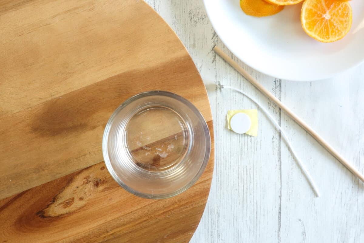 Soy candle DIY glass jar