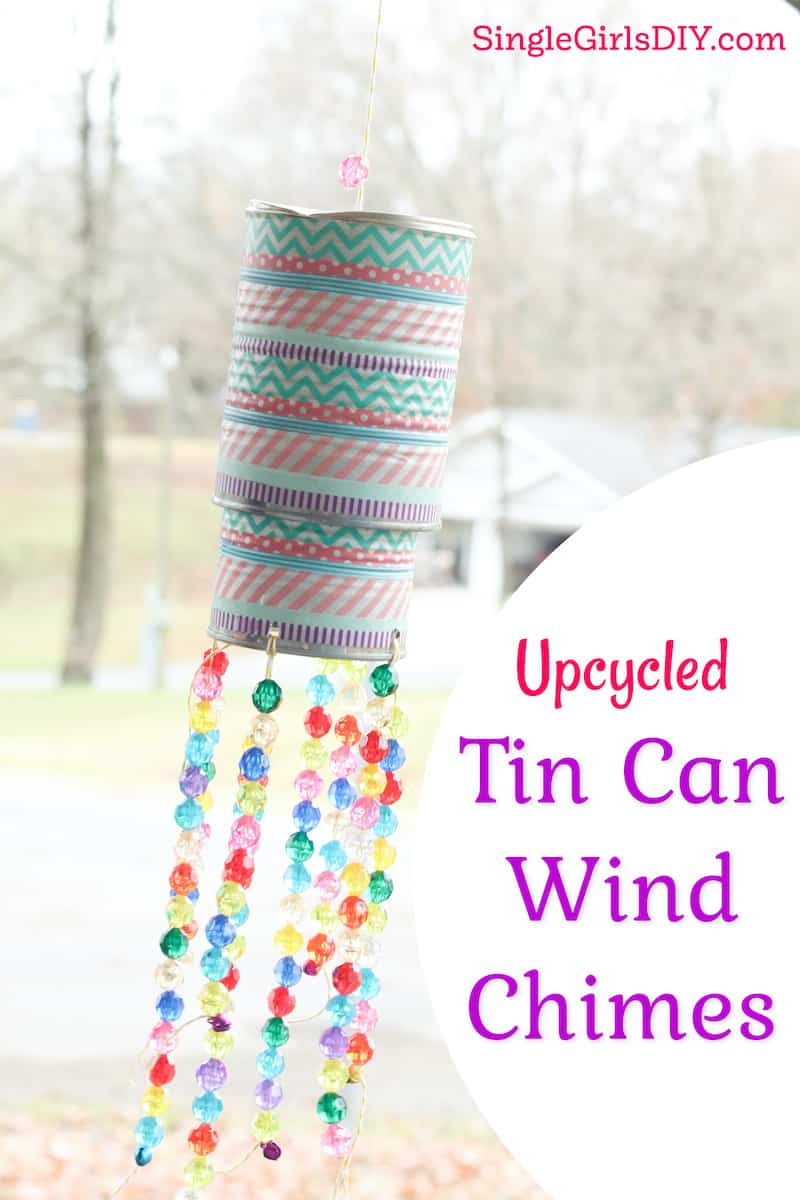 diy wind chimes made from food cans