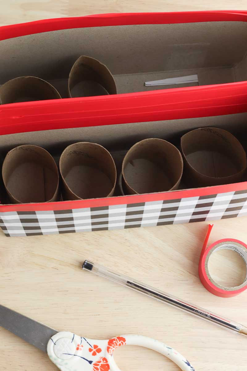 Cereal Box Organizer Step 15