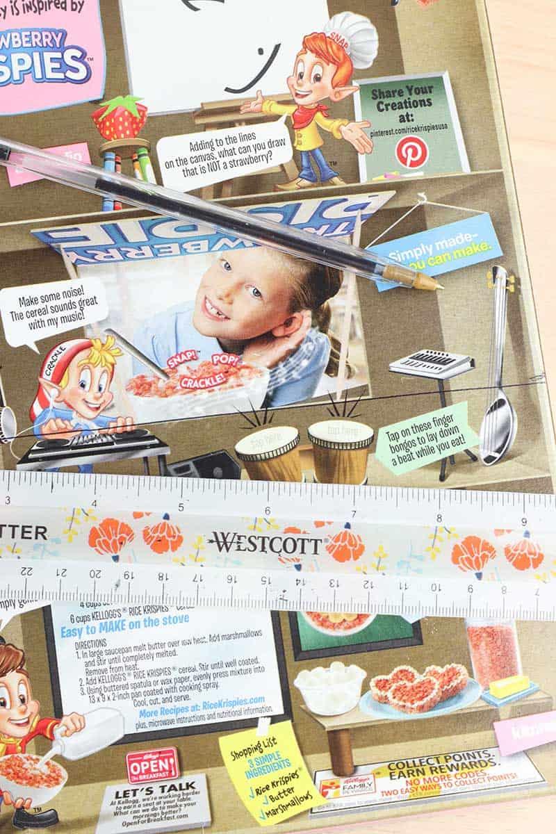 Cereal Box Organizer Step 5