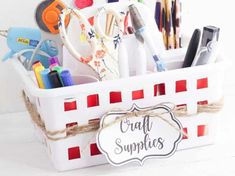 dollar tree Craft room Organization caddy