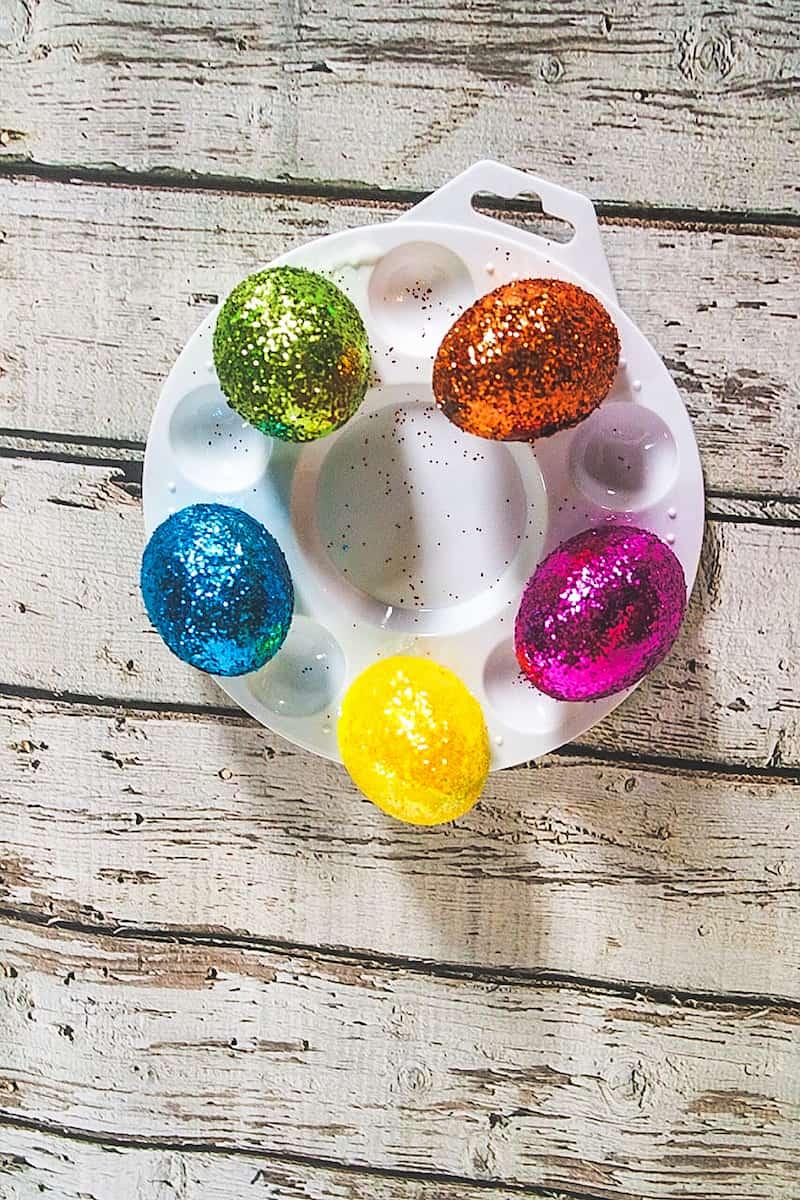 DIY Glitter Easter eggs Step 9