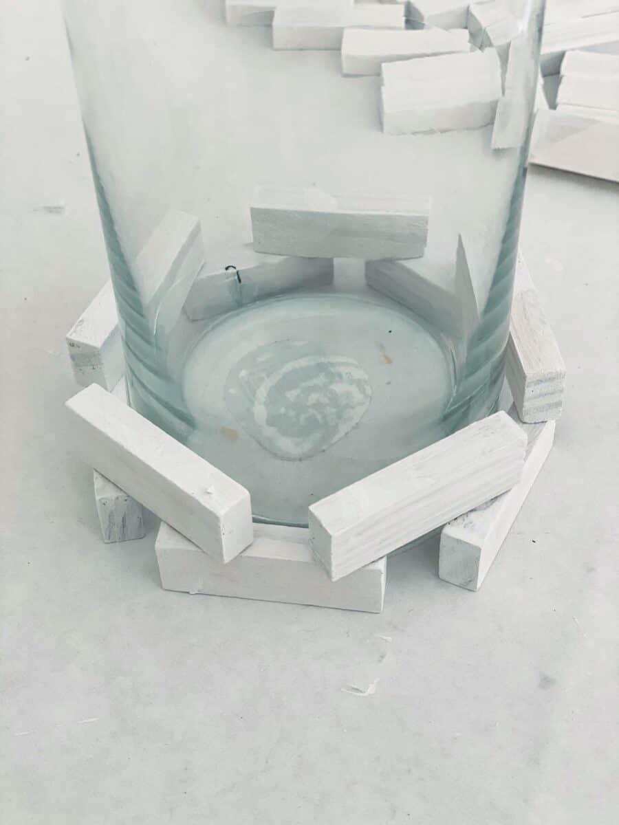 Jenga blocks DIY candle holder Step 2B