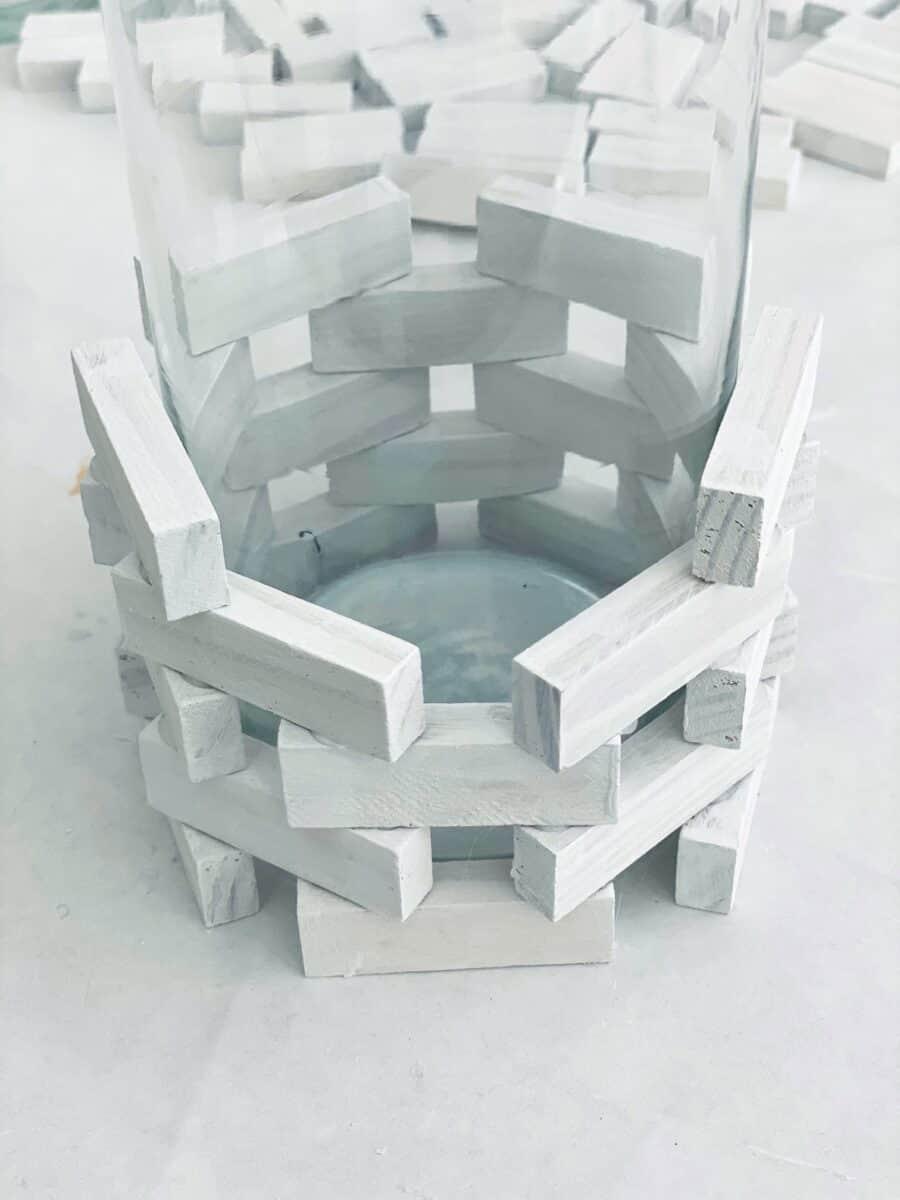 Jenga blocks DIY candle holder Step 3B
