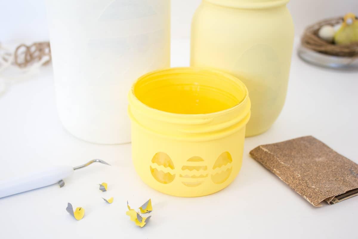 Mason Jar Easter Craft Step 16