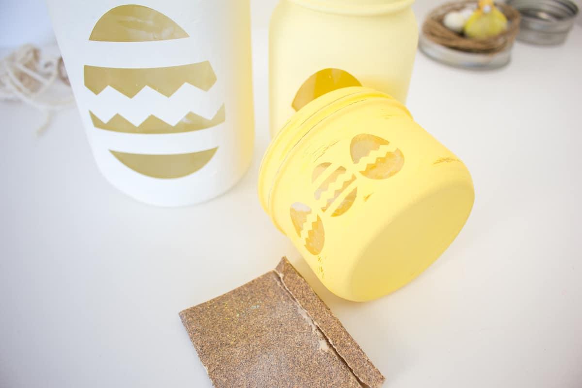 Mason Jar Easter Craft Step 17
