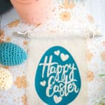 Easter Banner with flower fabric background
