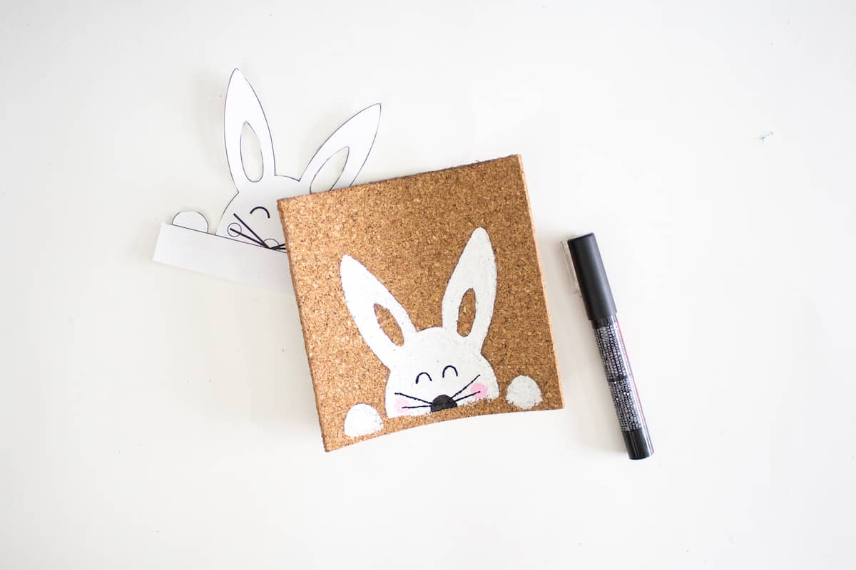 Stenciled Easter Bunny Art Step 8
