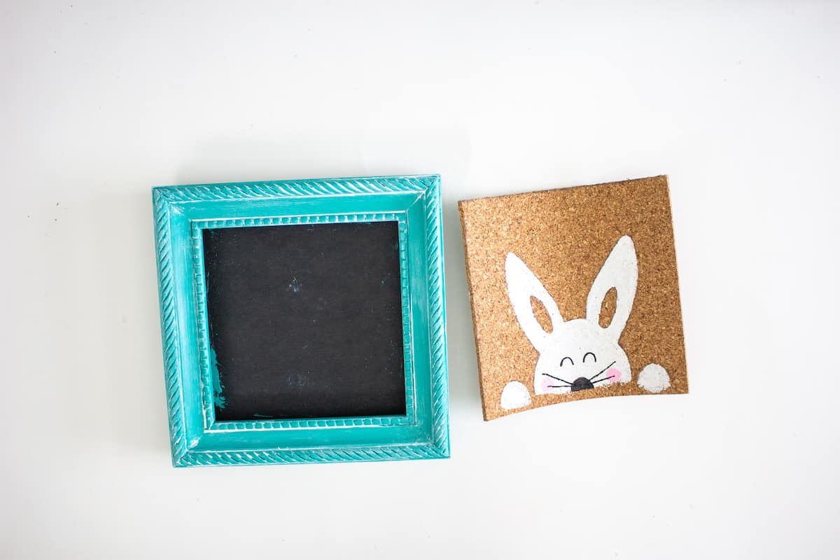 Stenciled Easter Bunny Art Step 9