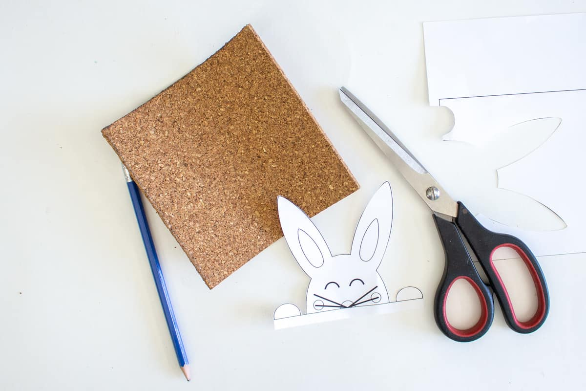 Stenciled Easter Bunny Art Step 5