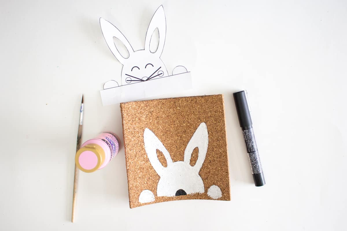 Stenciled Easter Bunny Art Step 7