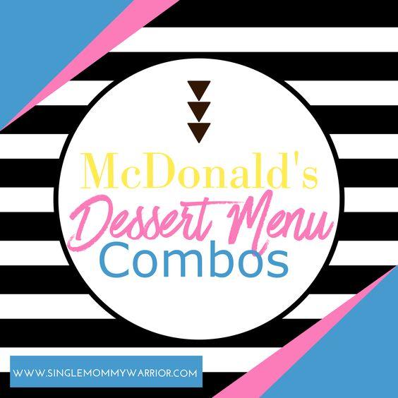 McDonald's Dessert Menu Combos