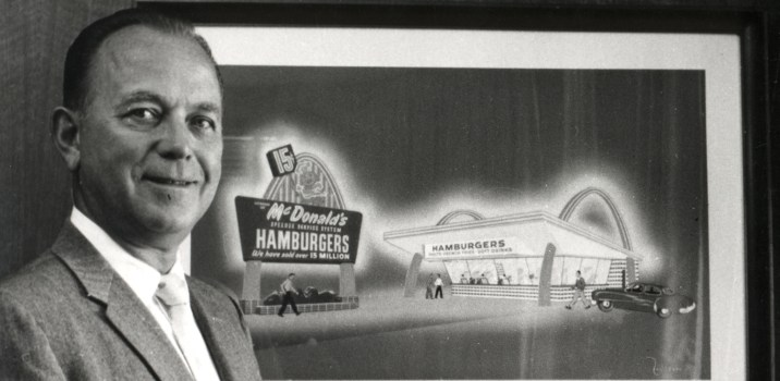 Ray Kroc McDonald's founder (Image Source: http://www.investors.com/news/management/leaders-and-success/kroc-built-mcdonalds-restaurants-into-an-empire/)