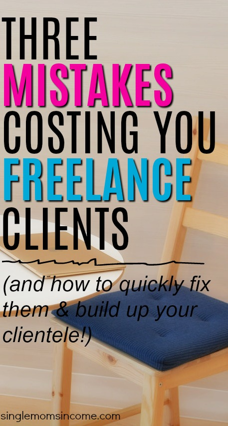 Getting freelance can be hard but it doesn't have to be. If you're having a hard time see if you're making any of these three crucial mistakes.
