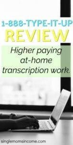 Looking for a higher paying transcription job? Check out our 1888typeitup review. #transcription #workfromhome
