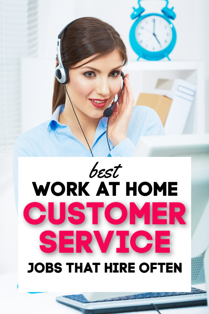 Best work at home customer service jobs from companies who hire often! #legit #workathome #customerservice #sidehustle
